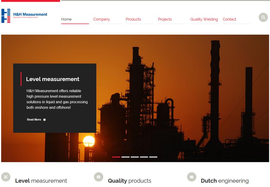 Compleet nieuwe website voor H&H Measurement. Responsive website upgrade in samenwerking met WhatEls.