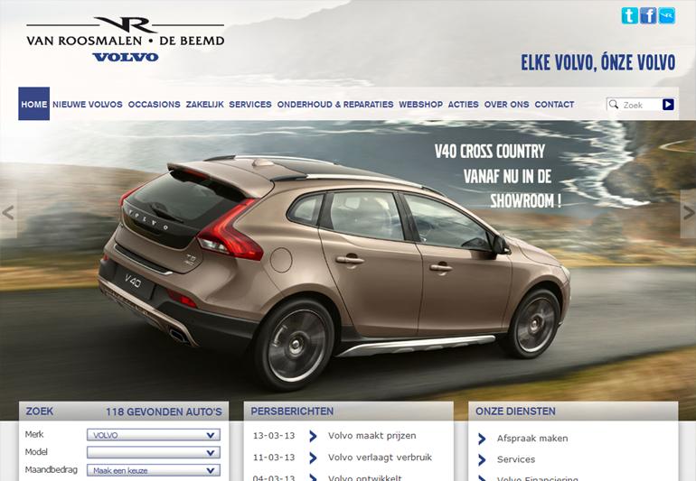 Bilancia heeft voor Volvo Van Roosmalen SEO website teksten geschreven en voertcontent management ondersteuning uit als freelance webmaster.