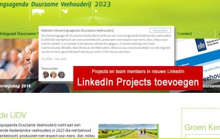LinkedIn projects toevoegen en team members in de nieuwe LinkedIn. Blog van Monique van Dam.