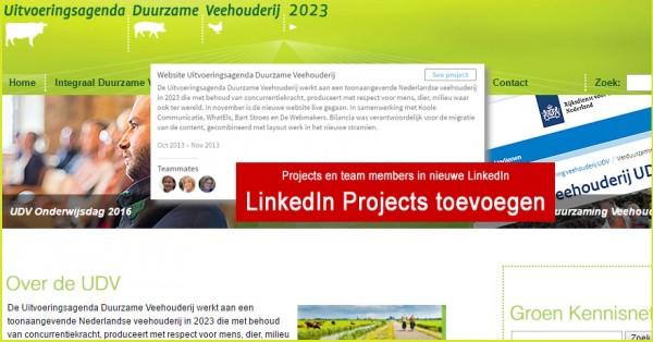 LinkedIn projects toevoegen en team members in de nieuwe LinkedIn. Blog van Monique van Dam.