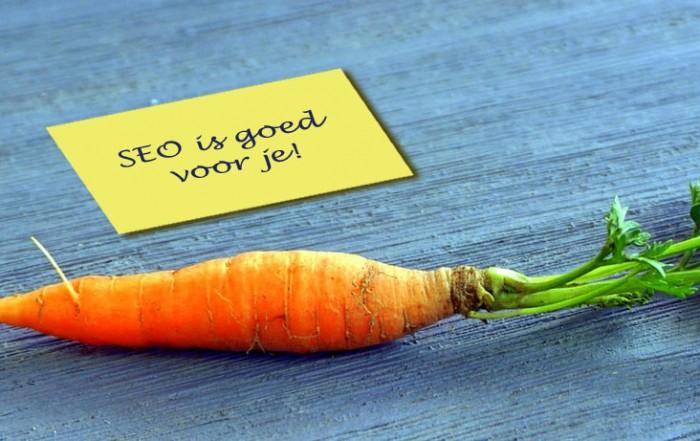 SEO is goed voor je, net als worteltjes